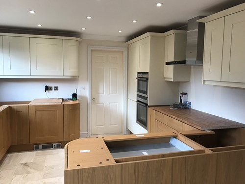 Complete Bespoke Kitchen Design And Manufacture With Integrated Curved Unit Cabinets